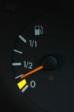 Petrol meter. Showing low petrol level Royalty Free Stock Images