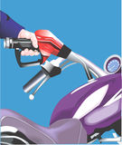 Petrol in the motorbike Stock Images