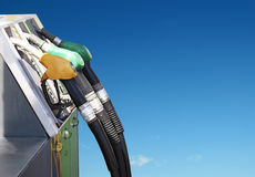 Petrol and nature. Concept of petrol and clean environment Royalty Free Stock Photo