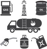 Petrol and oil industry icons Stock Images
