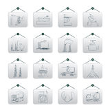Petrol and oil industry icons Royalty Free Stock Images