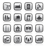 Petrol and oil industry icons Stock Photos