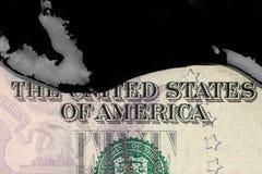 Petrol oil on money Stock Photo