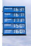 Petrol posterar, undertecknar arkivbild