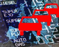 Petrol prices in Europe Stock Photography