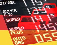 Petrol prices in Germany Royalty Free Stock Photography