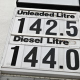Petrol prices Royalty Free Stock Images