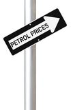 Petrol prissätter att gå upp arkivfoto