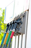 Petrol pump. Detail of a petrol pump in a petrol station Royalty Free Stock Photos