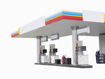 Petrol pump. The image of petrol pump under the white background Royalty Free Stock Photo