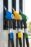 Petrol pump. Blue, yellow and green colors Stock Photo