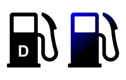 Petrol pump. S on isolated background Royalty Free Stock Image