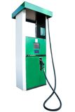 Petrol pump. Under the white background Stock Photo