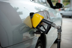 Petrol pump filling Royalty Free Stock Photos