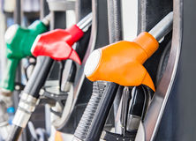 Petrol pump filling. For design work royalty free stock images
