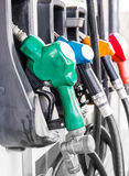 Petrol pump filling Royalty Free Stock Image