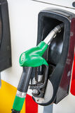 Petrol pump filling Stock Photography