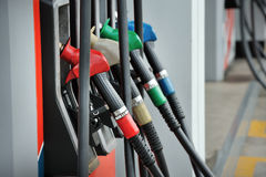 Petrol pump filling royalty free stock photo