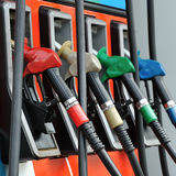 Petrol pump filling Royalty Free Stock Photography