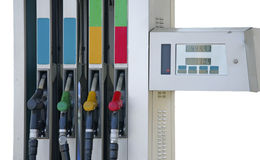 Petrol pump filling Stock Images
