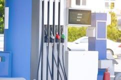 Petrol Pump Filling Nozzles Stock Image