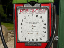 Petrol pump historical stand. Royalty Free Stock Photos