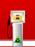 Petrol pump with recycle sign Stock Photo
