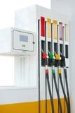 Petrol pump station. Closeup petrol pump gas station stock images