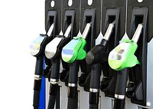 Petrol pump with unleaded. Image of a petrol pump with unleaded royalty free stock image