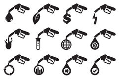 Petrol Pump Vector Icons Royalty Free Stock Photography