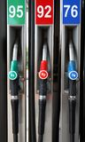 Petrol Pumps. Three Petrol Pumps Royalty Free Stock Images