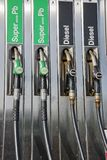 Petrol pumps. Service station, fuel supplies oil Stock Photography