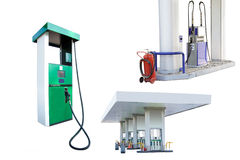 Petrol pumps Royalty Free Stock Photos