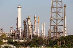 Petrol refinery. Large petrol refinery factory in Bangkok, Thailand royalty free stock photo