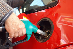 Petrol refueling Royalty Free Stock Image