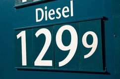 Petrol sign. Diesel price on the petrol station Royalty Free Stock Photo