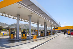 Petrol station. Filling station for vehicles with gasoline Stock Photos