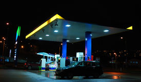 Petrol station. By night - transportation Stock Photo