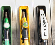 Petrol station. Gasoline fuelling petrol station led,ledfree and diesel royalty free stock photos