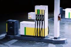 Petrol station. Fuel column on a petrol station stock image
