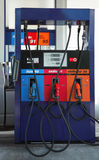 Petrol station. Fuel column on a petrol station royalty free stock image