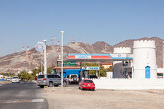 Petrol Station ADNOC in Fujairah, UAE Stock Photography