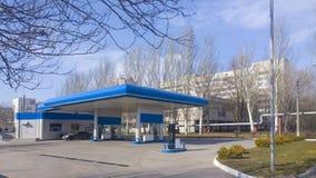 Petrol station. Petrol auto station (fuel, gas, energy stock photo