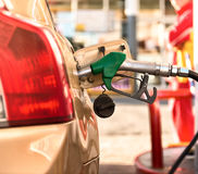 Petrol station. Car refueling on a petrol station Stock Photo