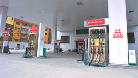 Petrol station in china Royalty Free Stock Images