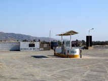 Petrol station in a desert Royalty Free Stock Images