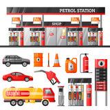 Petrol Station Design Concept Royalty Free Stock Images