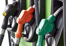 Petrol station. Detail of a petrol pump in a petrol station Royalty Free Stock Photo