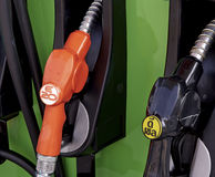Petrol station. Detail of a petrol pump in a petrol station Stock Images
