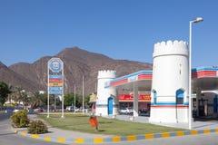Petrol Station in Emirate of Fujairah. FUJAIRAH, UAE - DEC 14: ADNOC Petrol Station in Emirate of Fujairah. December 14, 2014 in Fujairah, United Arab Emirates stock photos